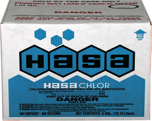 HASA 2x1 Liquid Chlorine Disposable Case