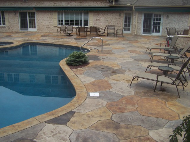 Swimming Pool Stamped Concrete