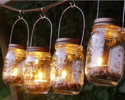 Mason Jar Candle Lights