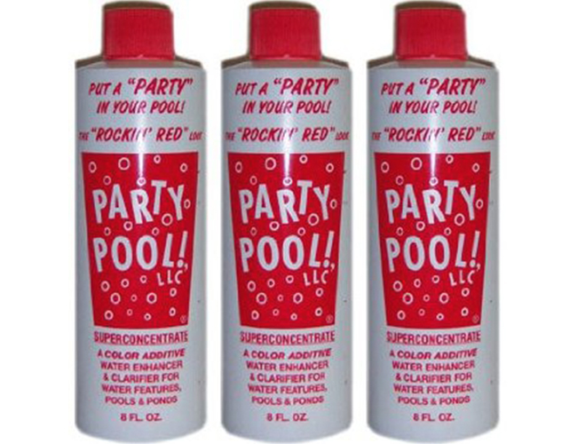 Rockin Red Party Pool Color Additive