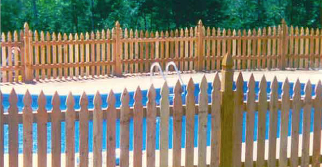 Wood Pool Fence