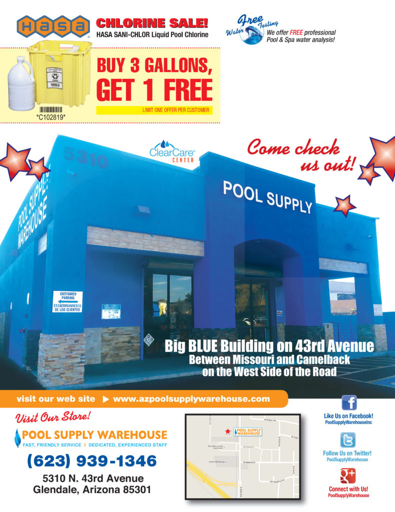 Buy 3 Gallons get 1 Free of Hasa Sanichlor Chlorine.