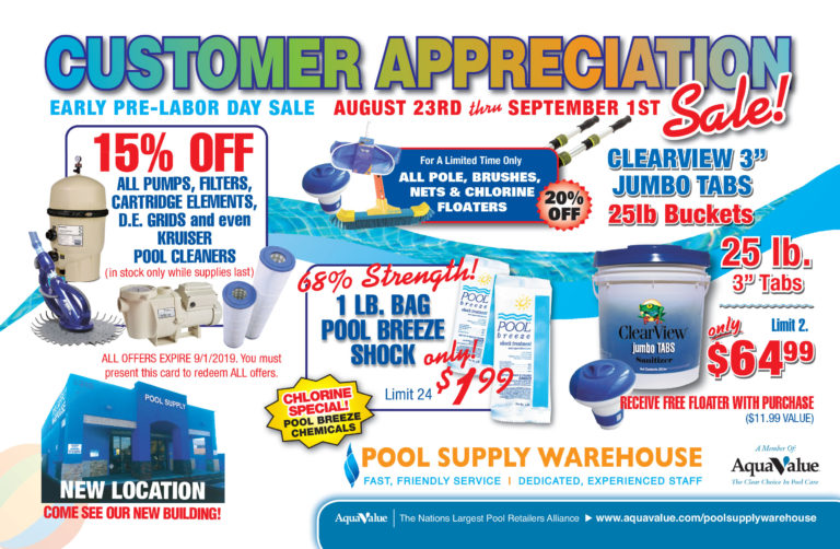 Customer Appreciation Promotion and Discounts